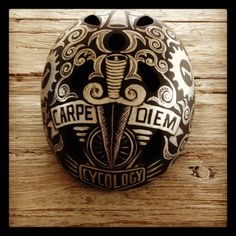 Another one off hand painted helmet design from the creative team at Cycology.