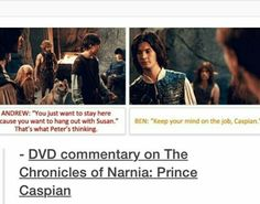 Cast Commentary on The Chronicles of Narnia: Prince Caspian Lucy Pevensie, Peter Pevensie, Narnia Movies, Narnia 3, Prince Caspian, Ben Barnes, Chronicles Of Narnia, Cs Lewis, Book Tv
