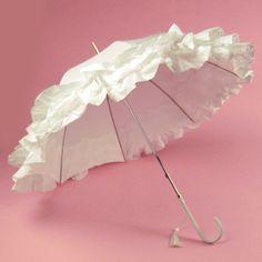 Lovely bridal parasol.