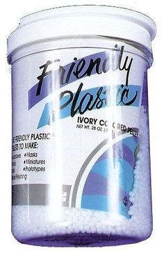 Friendly Plastic 28 Oz by WMU. $103.08. Great for making stage props and costume accessories! Melts instantly in hot water, no baking, no firing, no mess, hardens at room temperature and remelts for re-use. The new standard in modeling compounds. 28 oz of material. Save 57% Off!