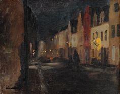 Street in Dieppe, Night Fritz Thaulow - Date unknown