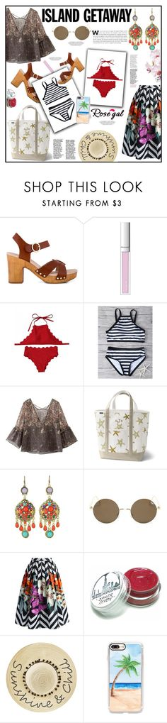 """""""How to Style High Neck Bikini Set"""" by elisabetta-negro ❤ liked on Polyvore featuring Zensu, RMK, Lands' End, WithChic, Chicwish, Betsey Johnson and Casetify"""