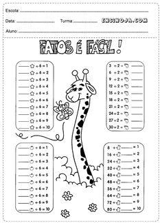 Atividades De Matemática 2º Ano Divisão Ideas Education Math