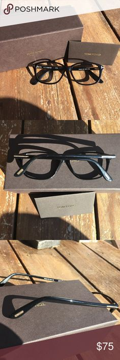 👓TOM FORD TF5316 EYEGLASSES 👓 👓Super chic TOM FORD TF5316 eyeglass frames. Authentic and in Preloved condition. Will include box and care card, no case or lenses. Black with gold hardware. I purchased these Preloved and used them for several months and I use my other frames more often.  Please view each picture closely since these aren't brand new and they do have minor blemishes! Priced accordingly! 👓POSH ONLY👓 Tom Ford Accessories Glasses