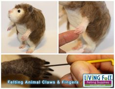Free Tutorial: Felting Animal Claws and Fingers