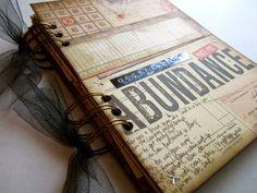 """Smash Book Junk Journal Planner Organizer """"Destination: Abundance"""". $35.00, via Etsy."""