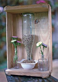 cool upcycling ideas recycling tinker garbage reduce bird feeders themselves b .