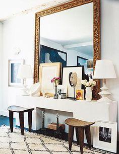 The mantel in photographer François Halard's New York apartment | domino.com