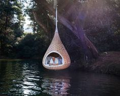 Love this hammock over the water