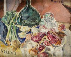 Mela (Maria Melania) Muter (Mutermilch) - Martwa natura z czerwoną cebulą