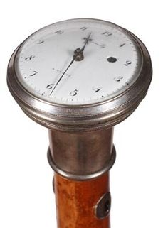 "44. French Pocket Watch Cane-Ca. 1850-A signed ""Romilly"