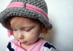 Crochet Beanie Hat Flapper Hat Cloche Hat by LittleMommaBoutique, $26.50