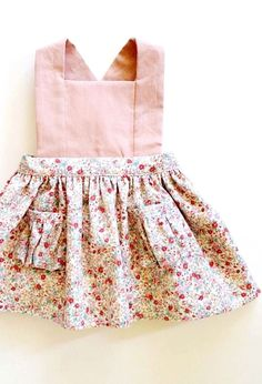 Pretty Handmade Floral Pinafore Dress | blytheandreese on Etsy