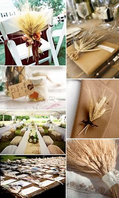 Wheat bouquet ideas:)