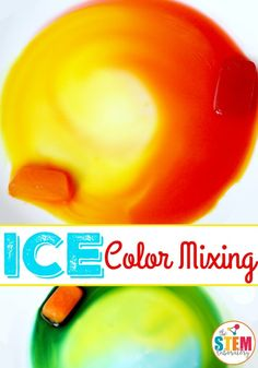 Ice color mixing is easy to set up, easy to clean up, simple, and fun. Let the kids experiment hands-on with this fun color mixing science activity!