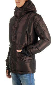 Dolce & Gabbana iridescent brown down jacket with gloves (art.  0106 SP G9AJ1G G7RY9 M3927)
