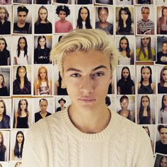 Lucky Blue Smith ❤️ Lucky Blue Smith, Young Blood, My Name Is, Eye Color, Style Icons, Sexy Men, How To Look Better, Hot Guys, Polaroid Film