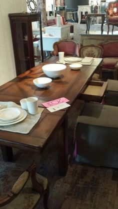 Our dining room table, from ABC Home.
