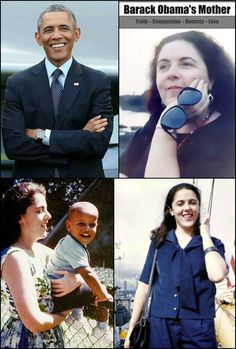 #44thPresident #Barack Obama & his mother, Stanley Ann Dunham (1942 – 1995), Educator and Anthropologist #Obama44 #ObamaLegacy #ObamaFoundation #ObamaLibrary #ObamaHistory Obama.org