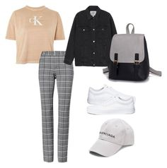 """""""Untitled #65"""" by hfirlyana on Polyvore featuring Calvin Klein, Vans and Balenciaga"""
