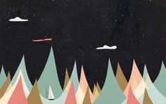 Magical and Multicolored Seascapes Drawings – Fubiz Media