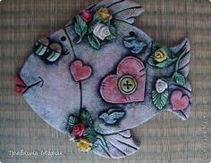 Поделка изделие Валентинов день Лепка Рыбка-Любовь Тесто соленое фото 1