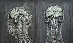 Gaetano Costa Doppio ritratto di venere (200x120) -poliuretano ed olio su legno  polyurethane, acrylic, wax and oil on wood