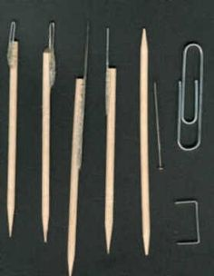 homemade sculpting tools