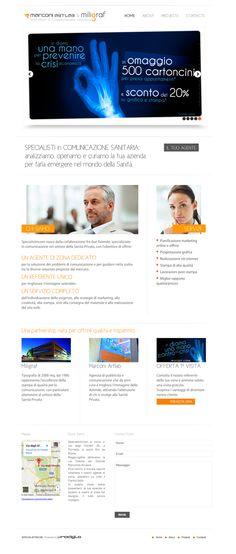 Specialistincom.it by Paolo Prosperi, via Behance #wordpress #comunicazione #sanità #salute