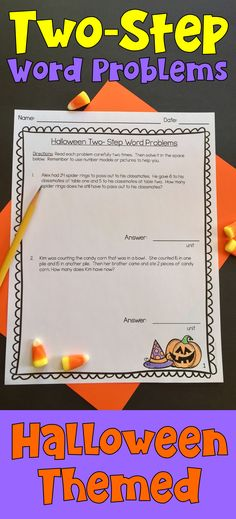 Let's make solving multi-step word problems fun for our students with these great Halloween Themed Two-Step Word Problems.  A great activity for the month of October.