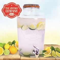 7.6L DRINK DISPENSER WATER COCKTAIL TAP JUICE PUNCH PARTY GLASS MUGS JAR HOME | eBay