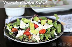 Avocado Chicken Salad with Honey Mustard Vinaigrette {Healthy Salad} on MyRecipeMagic.com