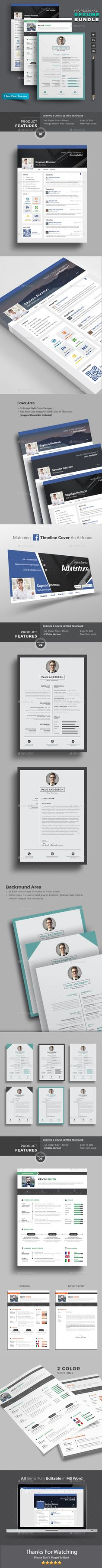 Resume Templates Psd, Indesign Indd, Ai Illustrator, Ms Word