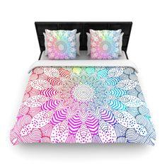 "Monika Strigel ""Rainbow Dots"" Fleece Duvet Cover"