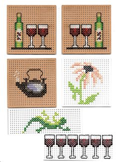 Marjolein Bastin, Mini Cross Stitch, Marianne Design, Crossstitch, Cross Stitching, Cross Stitch Patterns, Cardmaking, Projects To Try, Dots