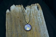 Purple Clockwork Pendant on Etsy, £16.19