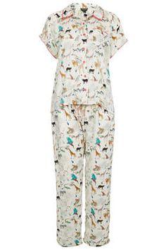 Safari Animal Print Pyjama Set - Sleepwear - Lingerie & Sleepwear  - cute PJs