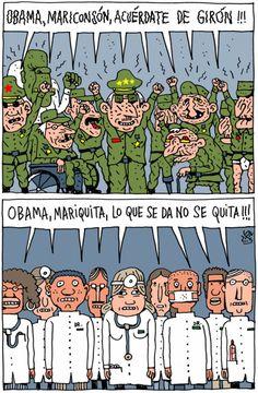 ¡Obama, Obama!, viñeta de AlenLauzán en Diario de #Cuba #Humor