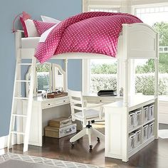 Find teen bunk beds and loft bunk beds at Pottery Barn Teen to make the most of your room. Save space when you sleep and study all in one place with a loft bed. Bedroom Furniture, Bedroom Decor, Bedroom Ideas, Bed Ideas, White Furniture, Furniture Ideas, Furniture Design, Decor Ideas, Low Loft Beds