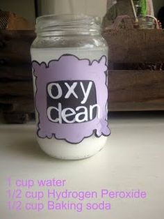 Homemade Oxyclean... seriously... I have all of that. Why am I buying the expensive stuff?