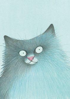 Katze blau by Karsten Teich