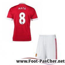 Maillot De Football Manchester United Rouge Enfant Mata 8 Domicile 15 2016 2017 Pas Chere