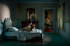 Richard Tuschman photo, inspired by Edward Hopper's paintings