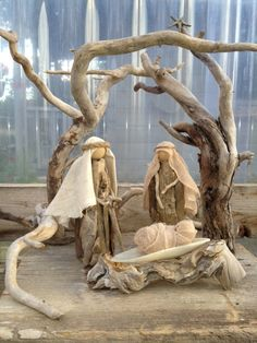 Driftwood Nativity #3 by Claire