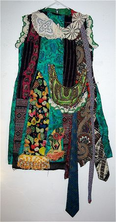 Wearable ART Upcycled & Altered  Vintage 1960s  by mybonny on Etsy, $91.00