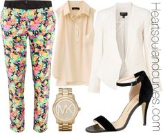 """""""How To Wear Floral Pants?"""" by adoremycurves ❤ liked on Polyvore"""