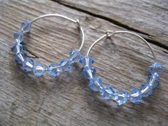 Looking for delicate dainty earrings that sparkle like the stars? Dainty Blue Crystal Earrings would make a great gift for an expectant mom, a friend who loves sky blue, or just a luxury for yourself.