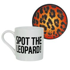 Stand out with this colourful WWF Spot the Leopard porcelain drinking mug and coaster set, made in the EU, just £8.75 at http://shop.wwf.org.uk/?utm_source=pinterest&utm_medium=social&utm_campaign=shoppc=ANZ008010