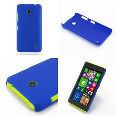 PDair Rubberized Hard Cover for Nokia Lumia 630 Dual SIM (Blue)