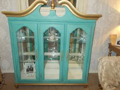 American Inspired Grand Glass Display Cabinet